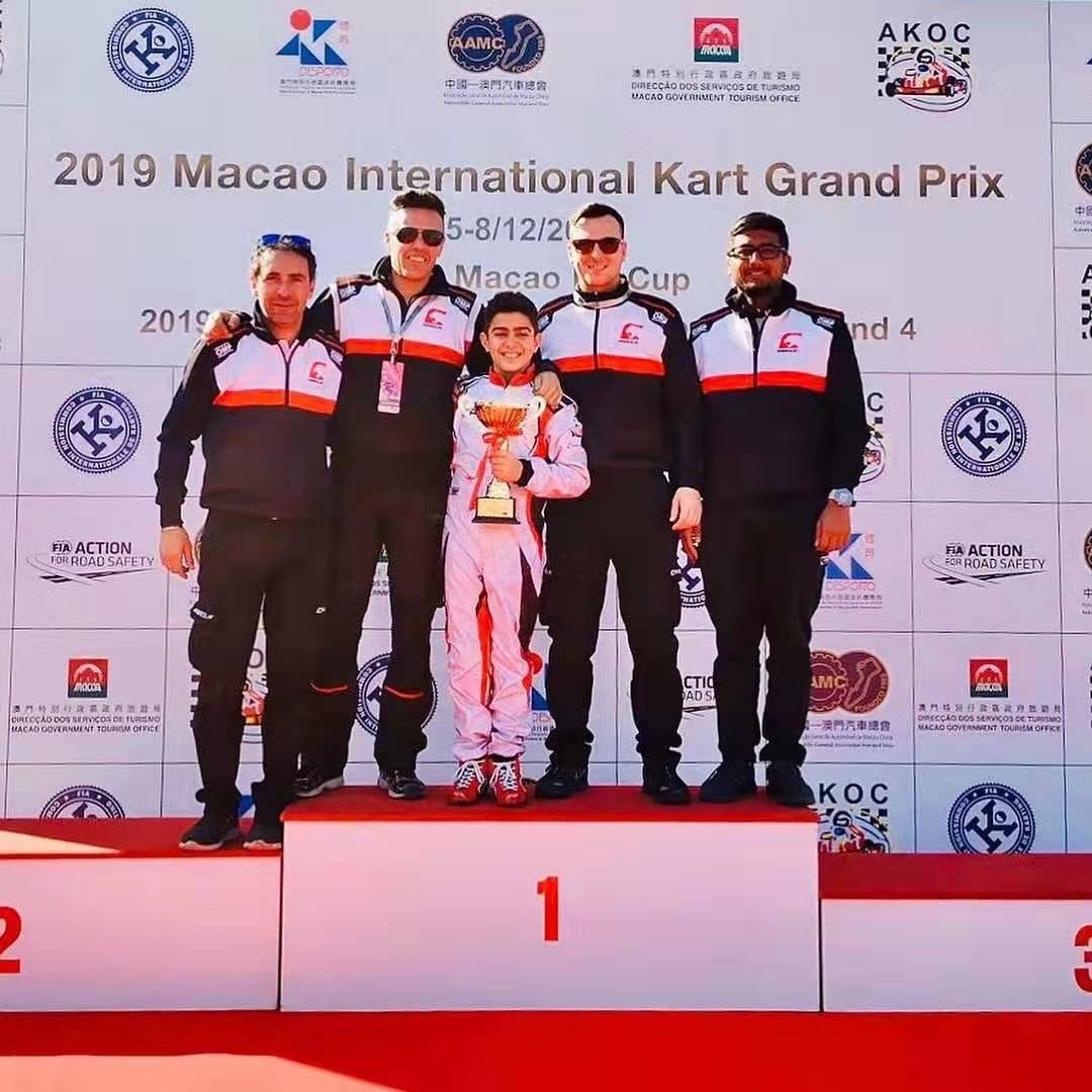 Rashid Al Dhaheri wins race and championship at the World's greatest karting race in Macao