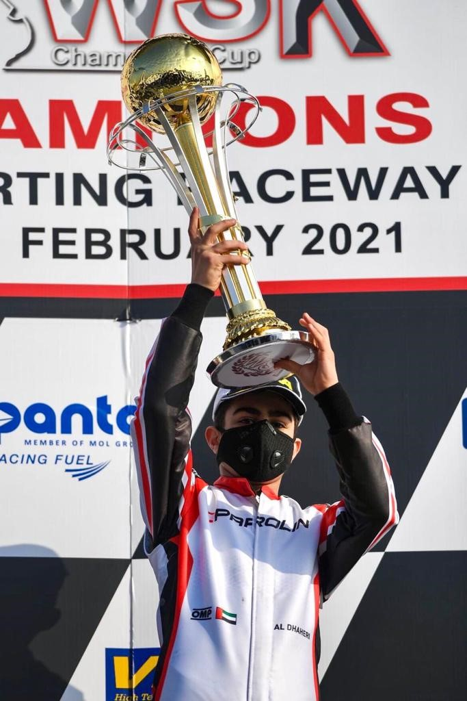 Rashid Al Dhaheri opens new racing season with sensational OK-Junior victory at Adria for WSK Champions Cup