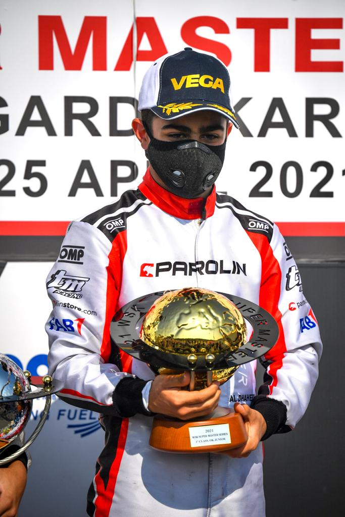 """Rashid Al Dhaheri crowned the """"2021 Champion"""" in Italy last night after his exceptional performance clinching the OKJ victory in the final round of the """"World Series Karting Super Master Series"""""""